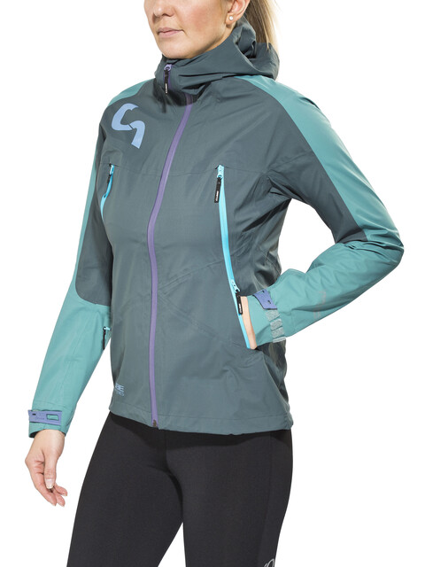 Cube AM Regenjacke Damen grey'n'blue